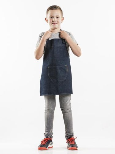 549 Junior  Blue Denim Chef schort kids
