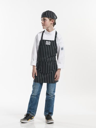 528 Junior Chef Big stripe schort kids