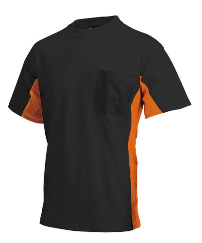 102004 T-shirt Bi-Color zonder Borstzak
